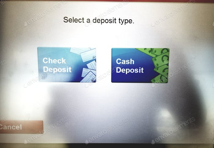 Haciendo un depósito a través del cajero automático