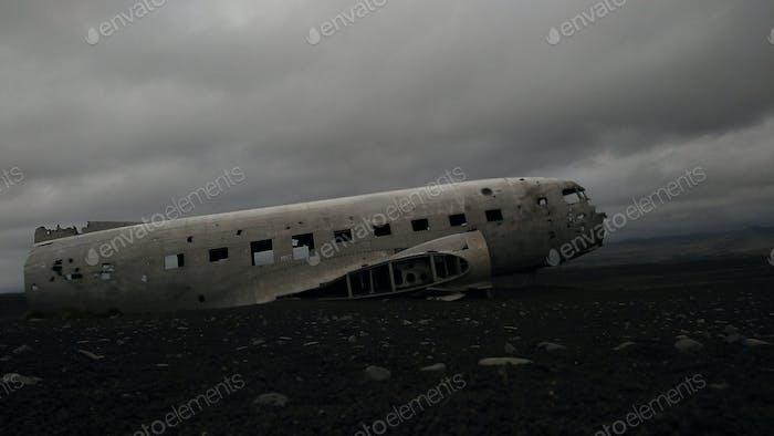Crash plane in Iceland