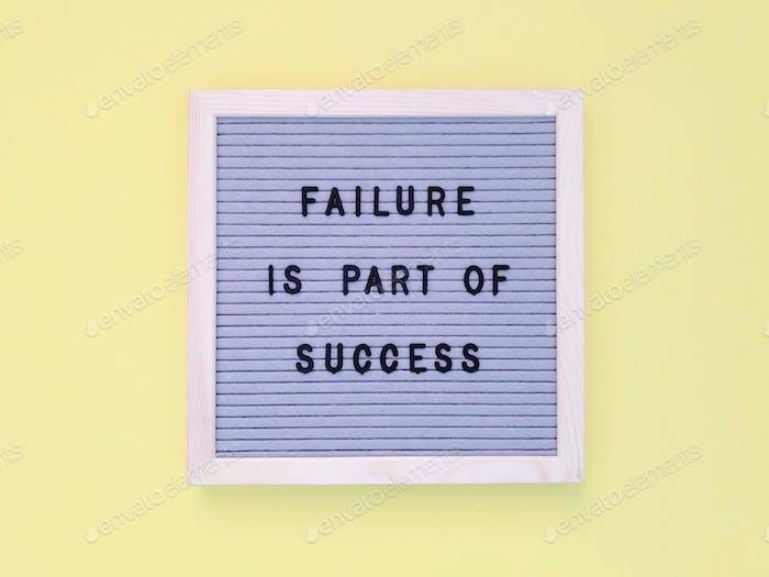 Misserfolg ist Teil des Erfolgs