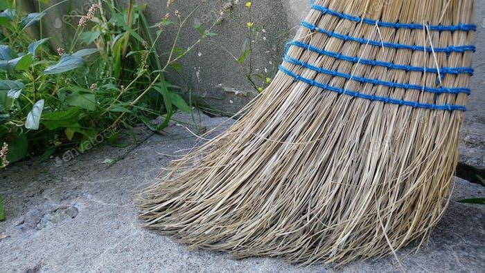 Corn broom.