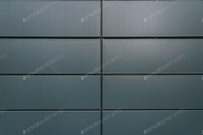 aluminum cladding of the building