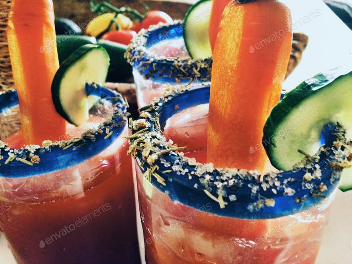 Caesars - Colourful drinks!