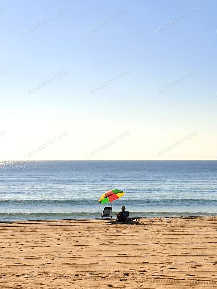 minimal style beach landscape