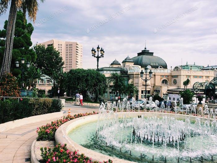 Urban park. Monaco