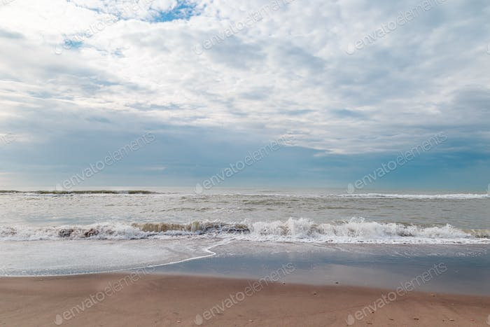 seashore without people