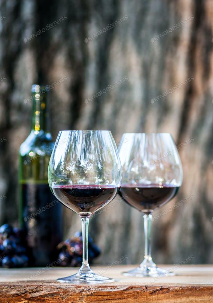 Wein an einem Sommerabend.