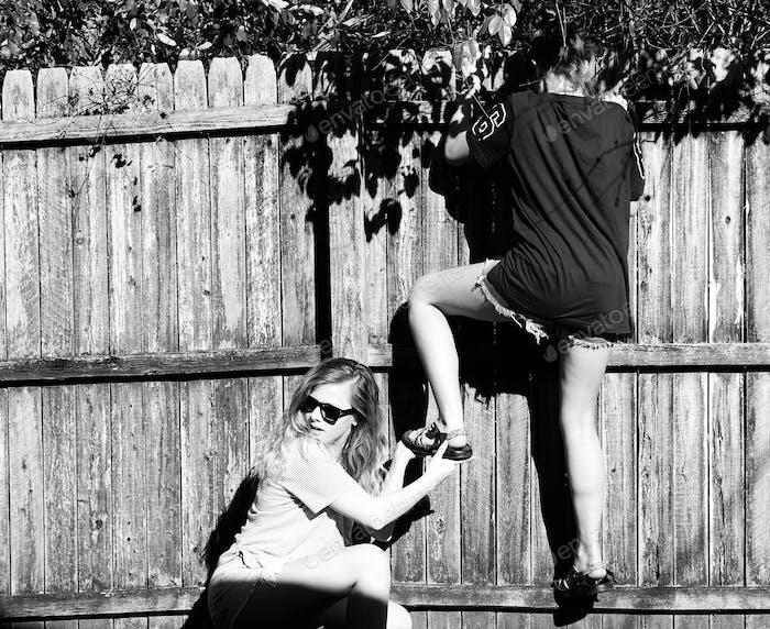 Sneaky teenage girls