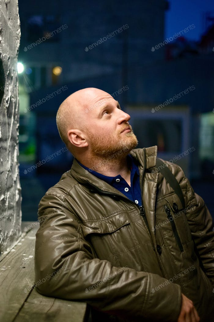 Portrait of a bald man
