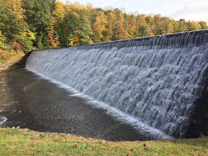 The dam site.