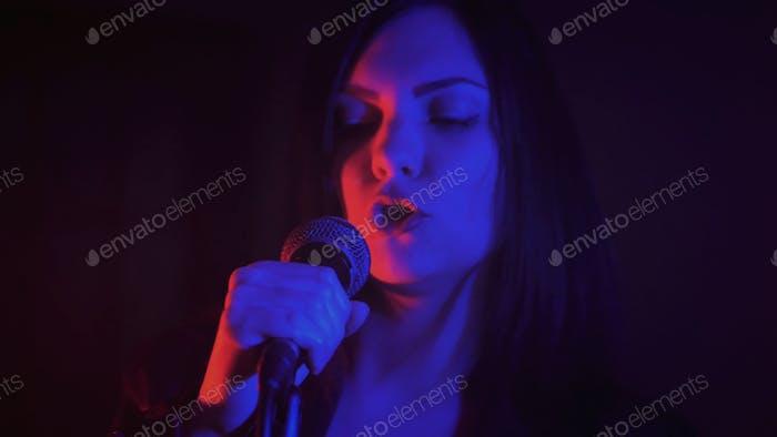 Singer in night club