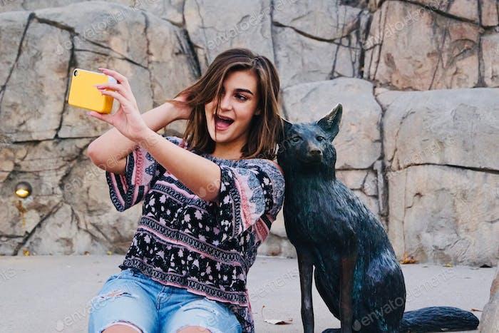 Having fun with selfies.