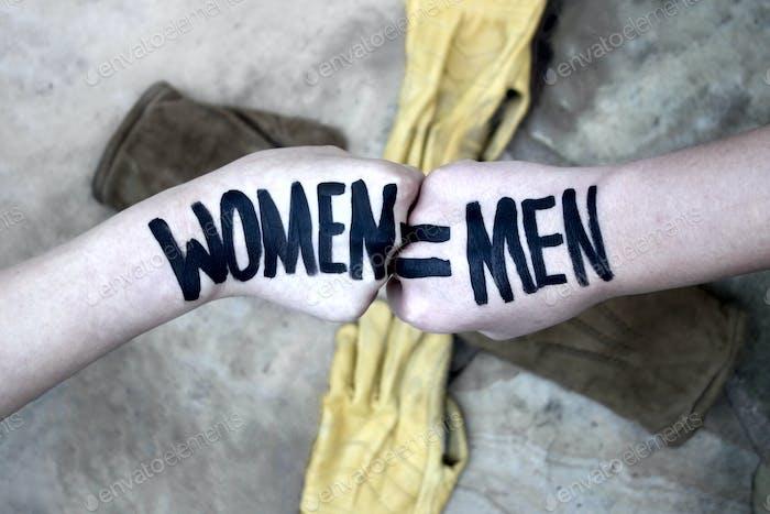 Feminismo significa que usted cree en la igualdad.