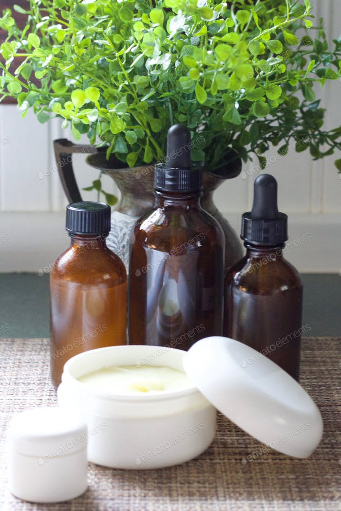 Women's Health - Homemade organic skin care products in at-home and purse-size containers