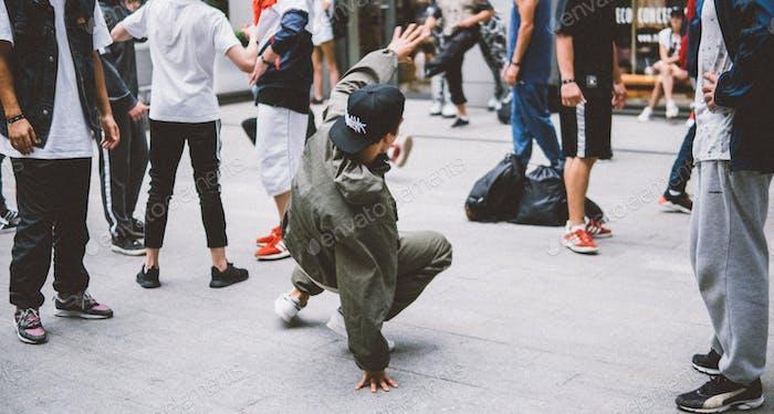 B-boy breakdance freestyle urban dance battle