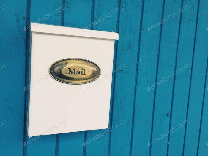 Mailbox typography #blue #typography