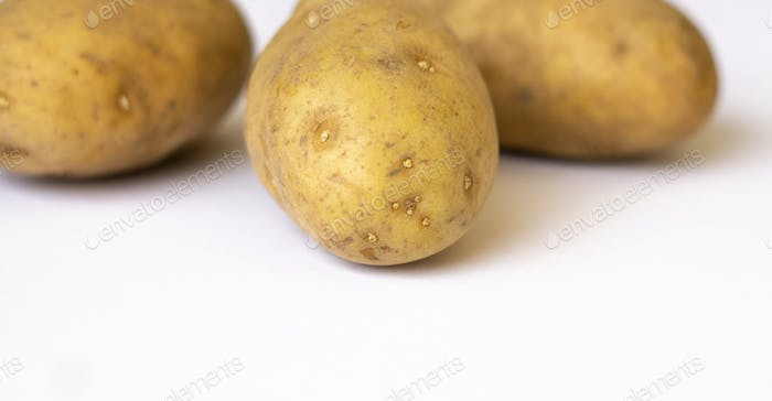 Closeup of Russet potatoes