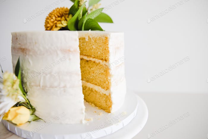 Beautiful cut out of inside vanilla cake