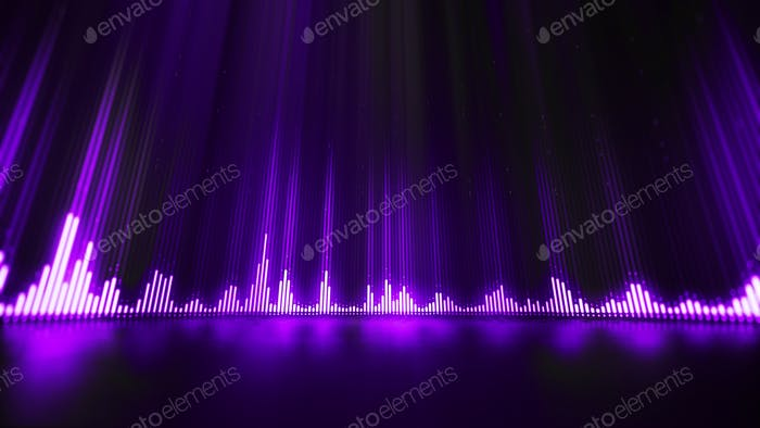 Sound wave equalizer abstract background.