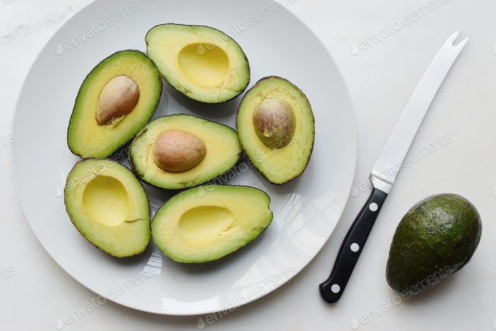 Avocados on the platter