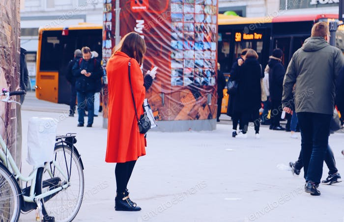 Modern woman in the city