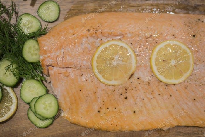 Baked Salmon for dinner