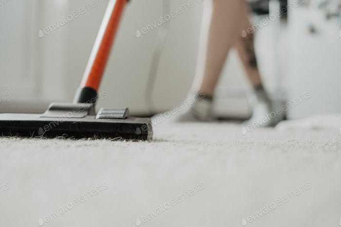 Cleaning home with a vacuum cleaner