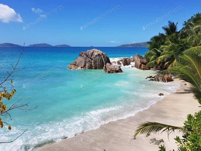 Exotic tropical scenery, beach landscape