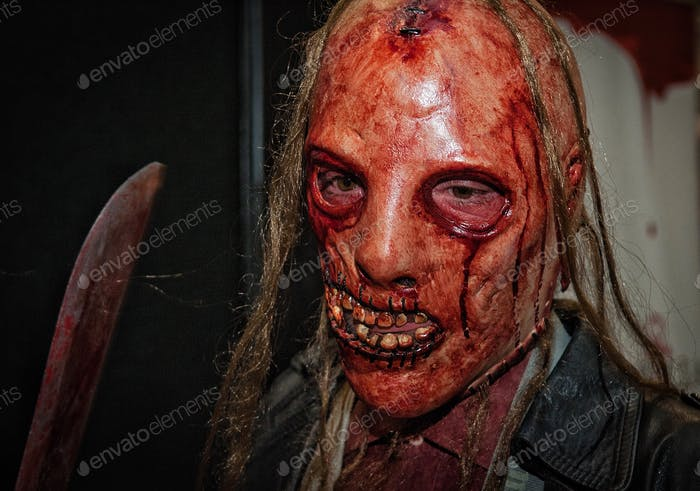 Bloody scary zombie mask for Halloween