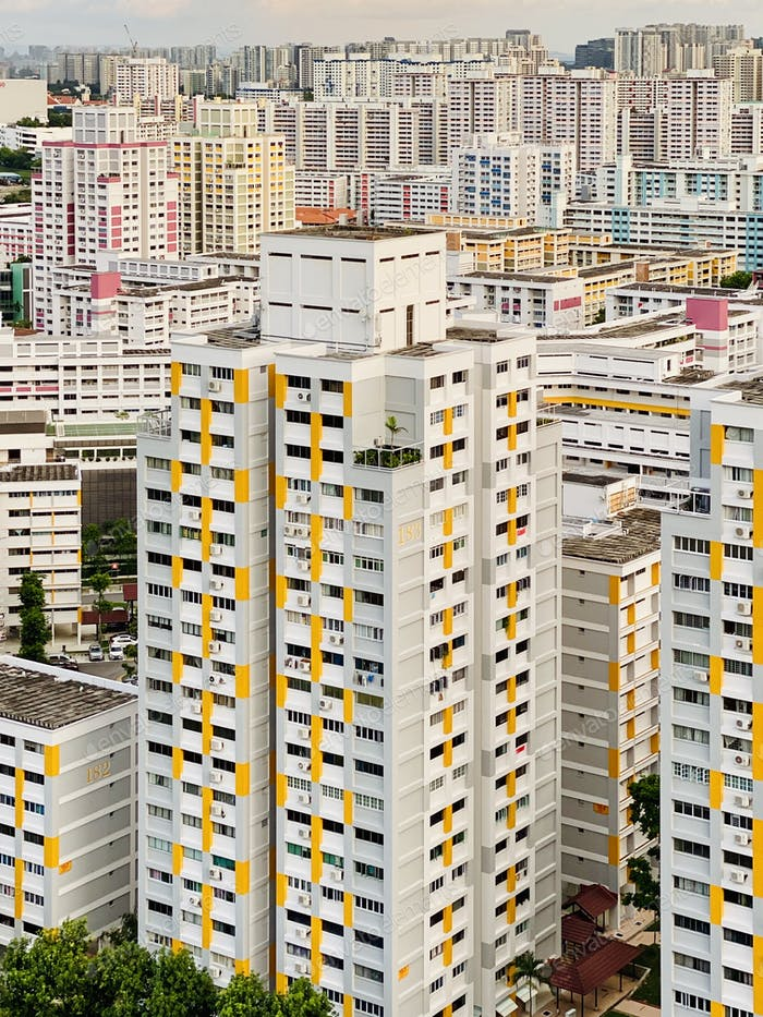 Singapore's public housings (HDB Flats).