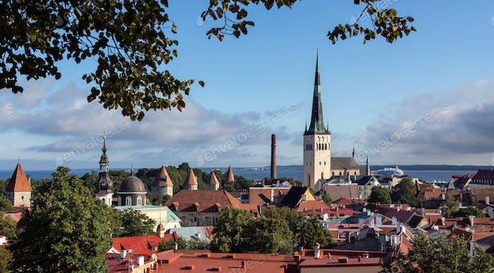 The city of Tallinn in Estonia