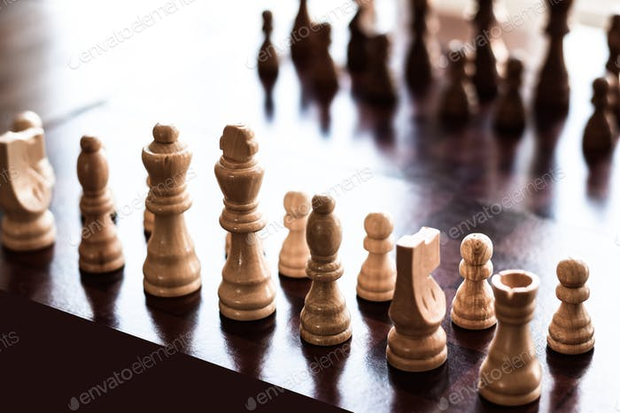 Game of chess board set up