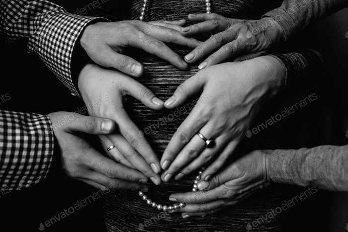 hands of pregnancy and generation