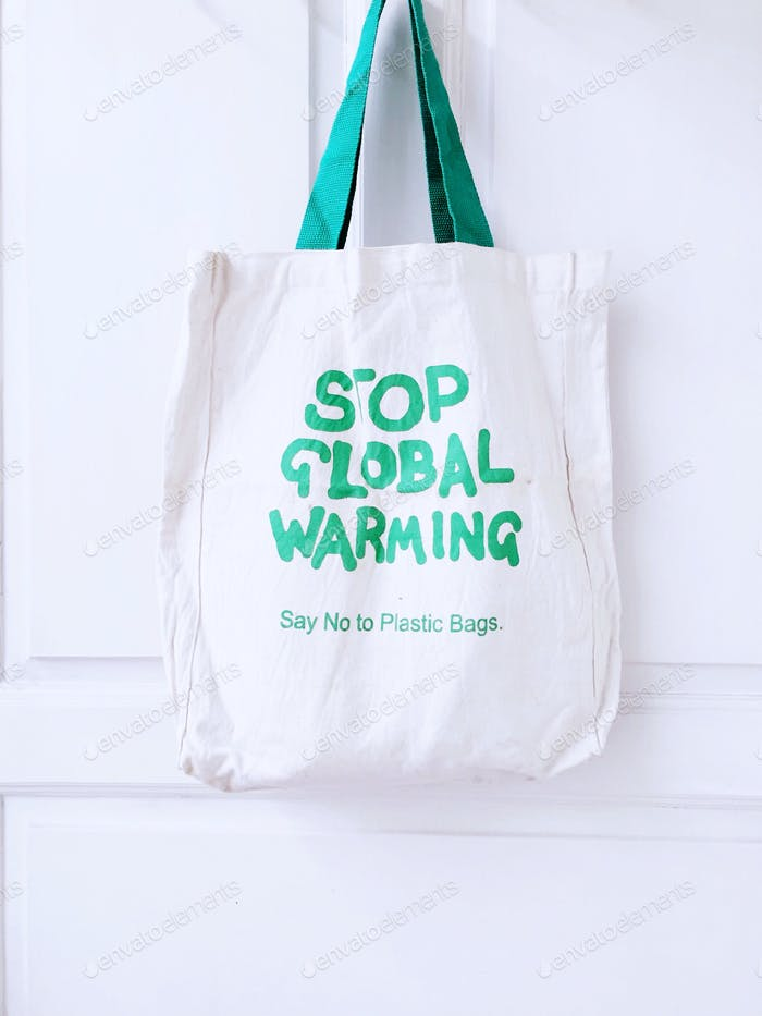 Stop global warming Say no to plastic bags