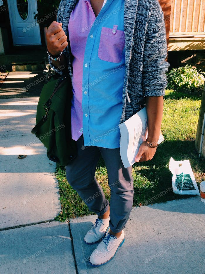 Student off to first day of university