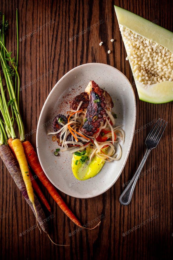 Healthy gourmet food farm to table