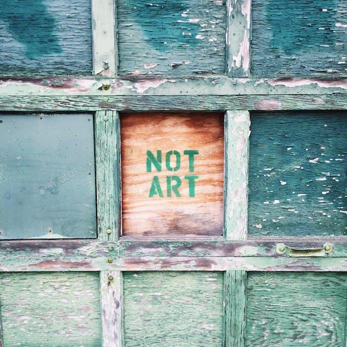 Not Art graffiti