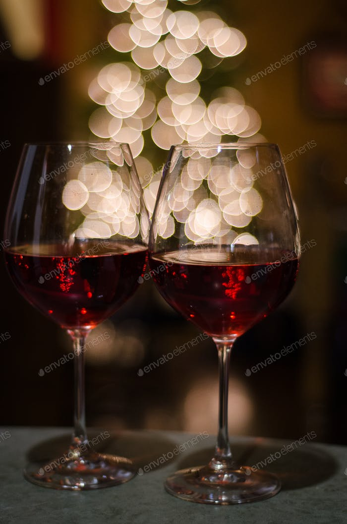 Wine and bokeh