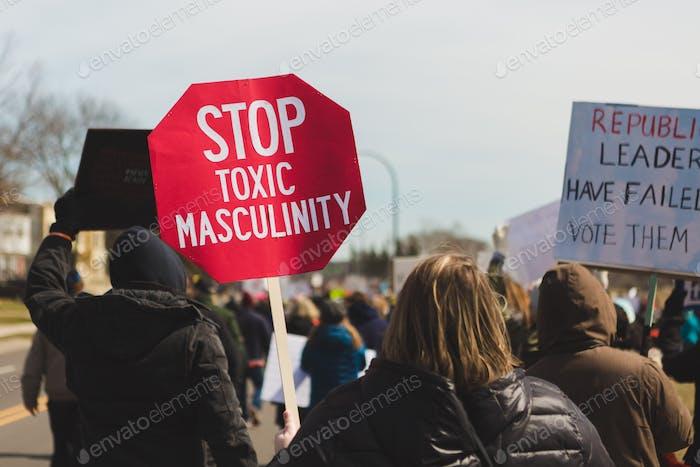 Stoppen Sie toxische Männlichkeit
