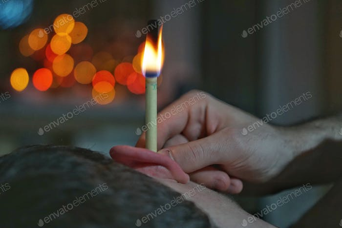 Candles in the ears are not the usual medicinal suppositories