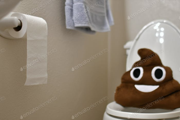Concept of Gastrointestinal issues, diarrhea, constipation, stomach bug, bathroom, toilet,