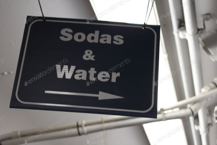 Sodas and water