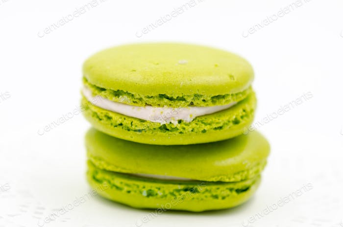 Colorful Neon Green Chartreuse Macrons