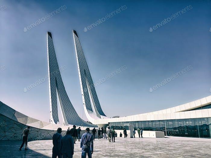 Islamic architecture; mosque: urban; architecture; modern architecture: minarets: islam