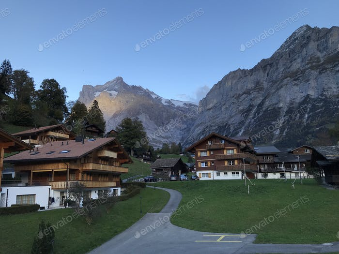 Grindelwald in the evening.