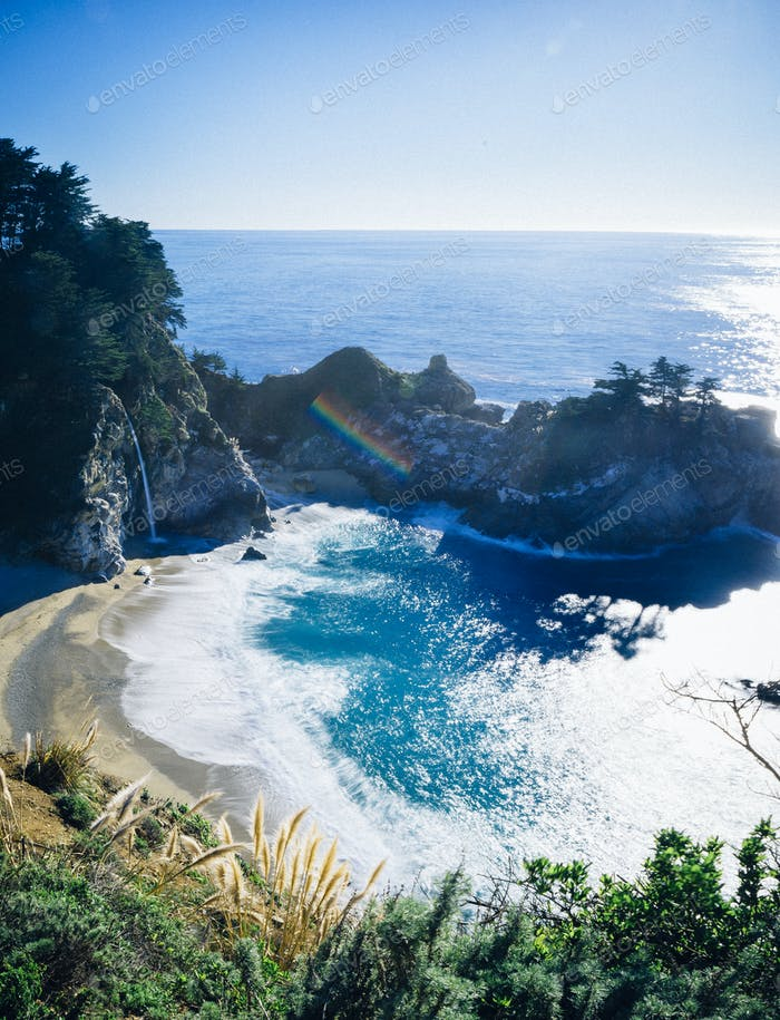 McWay Falls, day time. Big Sur, California