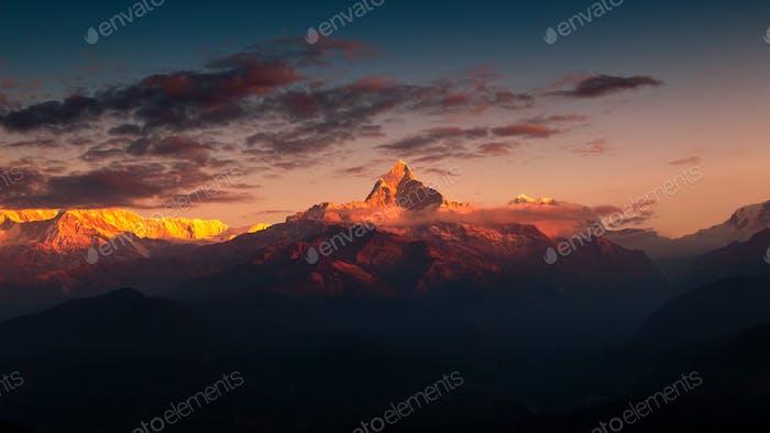 Sunrise with Mountain