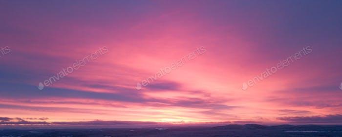 Pink Polar stratospheric clouds