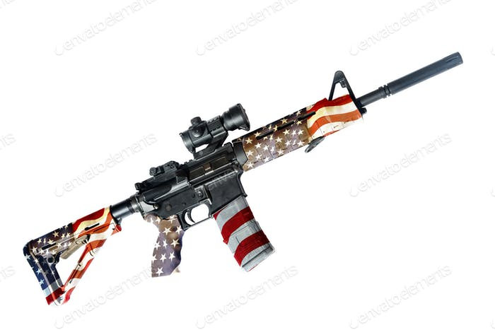 The Patriotic AR 15