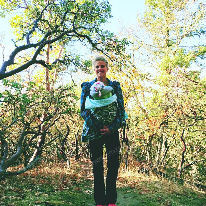 Crisp fall hike with baby