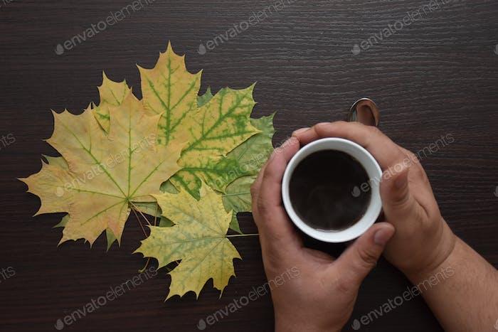 warming coffee